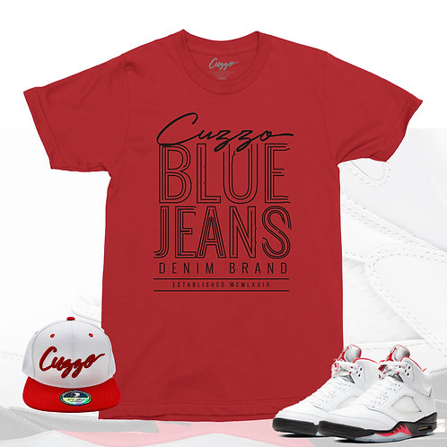 Cuzzo® Blue Jeans (Red-Black)