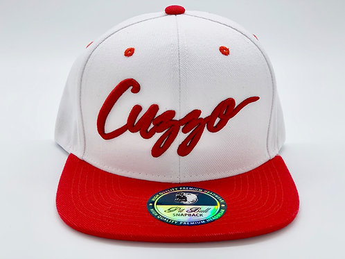 Cuzzo Signature Color-block Snapback (Red-White)