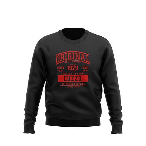 City-Limits Crewneck Sweatshirt (Blk-Red)
