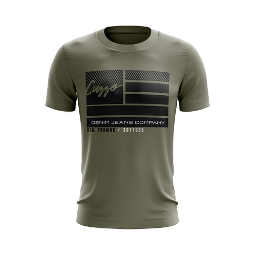 Cuzzo® Nation Flag Tee (Olive)