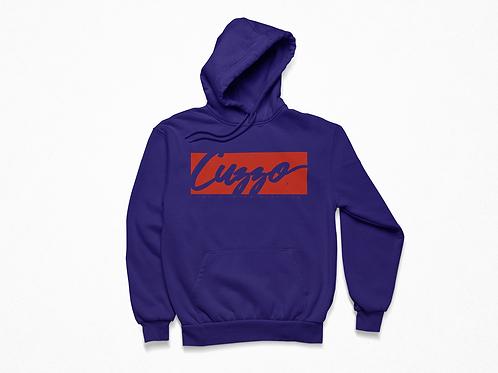 Cuzzo® Signature Block Hoodie  (Purple/Red)