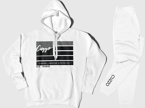 Cuzzo® Nation Jogger Set (White)
