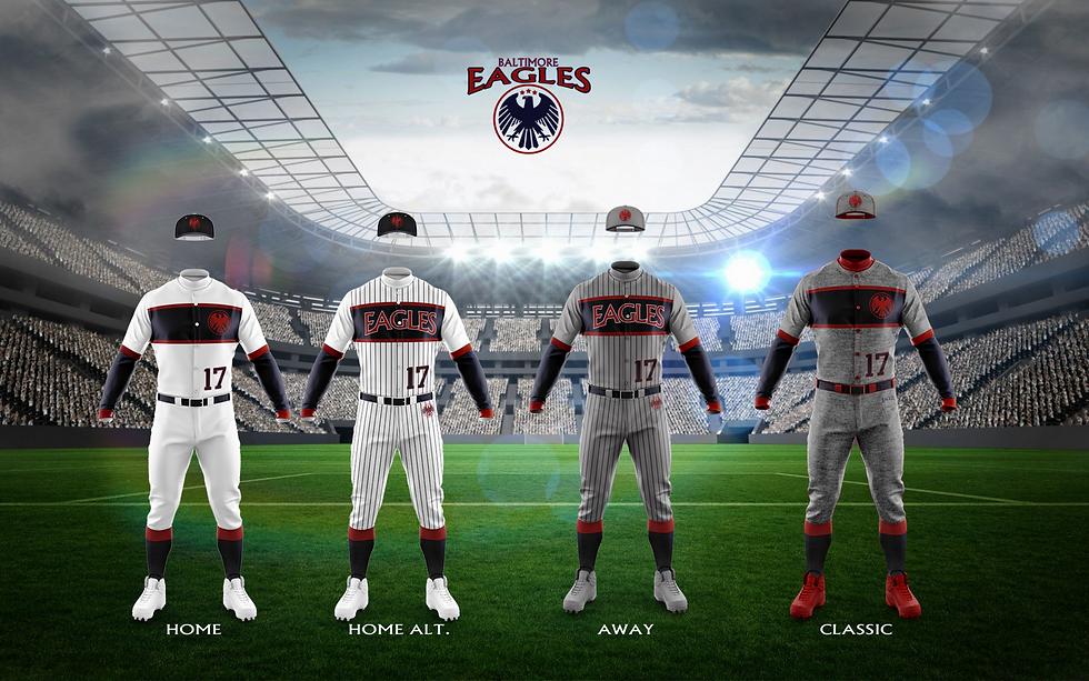 Baltimore Eagles team jerseys