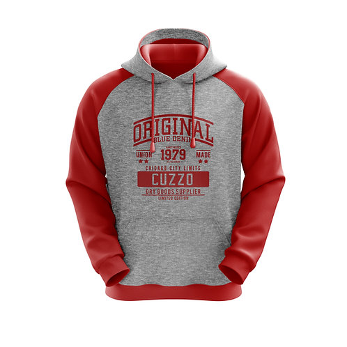 Cuzzo® EXCLUSIVE City Limit Hoodie (Grey-Red)