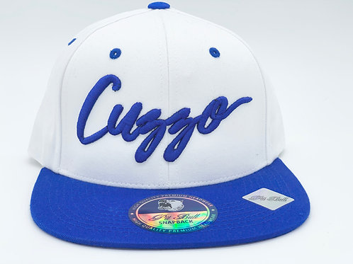 Cuzzo Signature Color-block Snapback (Royal-Wht)