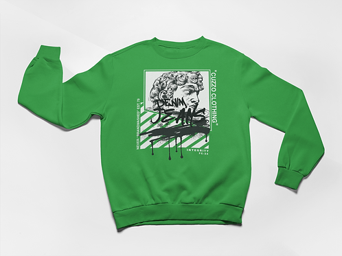 Cuzzo® Brandwashed Sweatshirt (Green)