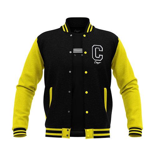 Cuzzo® Letterman Jacket (Black-Yellow)