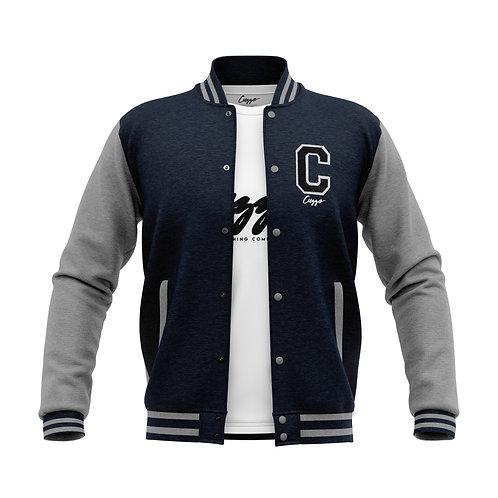Cuzzo® Letterman Jacket (Navy-Heather Grey)