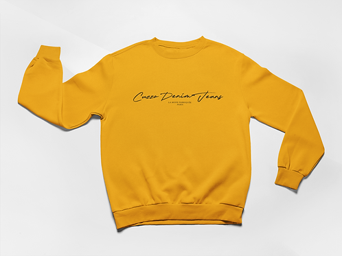 Cuzzo® Scripted Sweatshirt (Gold)
