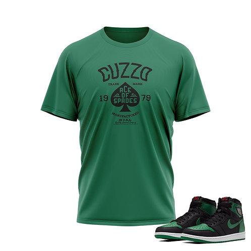 Cuzzo®  Ace of Spade Tee (Irish Green-Black)
