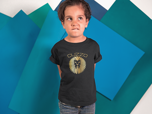 Boys Young King Kids Tee (Black-Gold Foil)