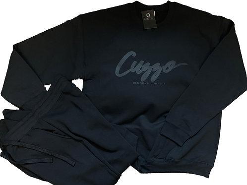 Cuzzo Black-Out Signature Jogger Set(Blk-Blk) **Exclusive**