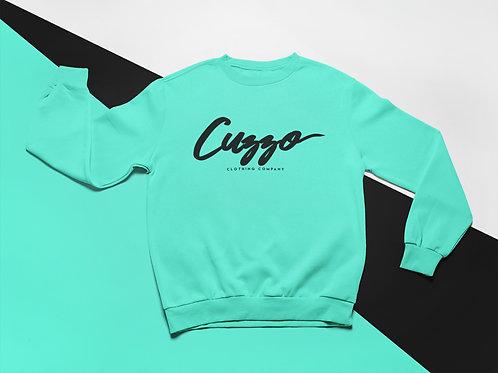 Cuzzo Signature Crewneck (Scuba Blue-Blk)