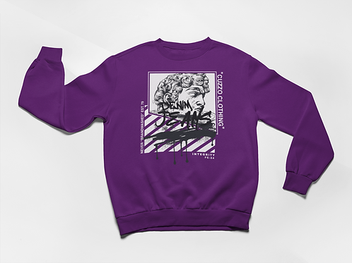 Cuzzo® Brandwashed Sweatshirt (Purple)