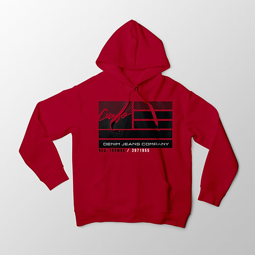 Cuzzo® Nation Flag Hoodie (Red)
