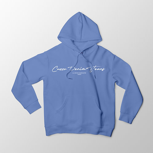 Cuzzo® Scripted Hoodie (University Blue-White)