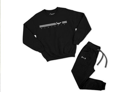 Cuzzo® Quad Jogger Set (Blk-White) **Exclusive**