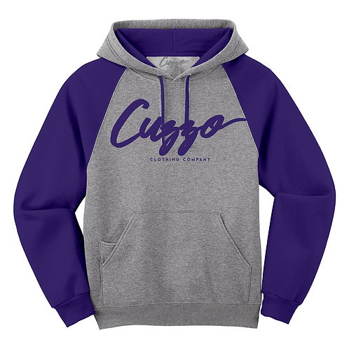 Cuzzo® EXCLUSIVE Signature Hoodie (Grey-Deep Purple)