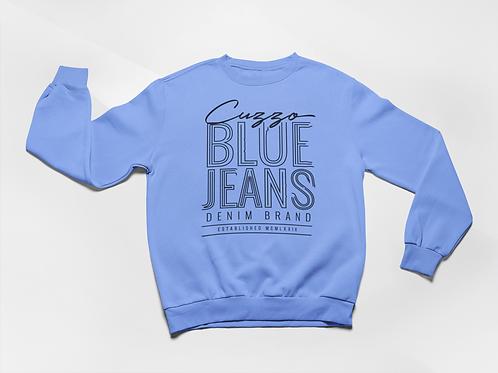 Cuzzo® Blue Jean Sweatshirt (University Blue-Black)