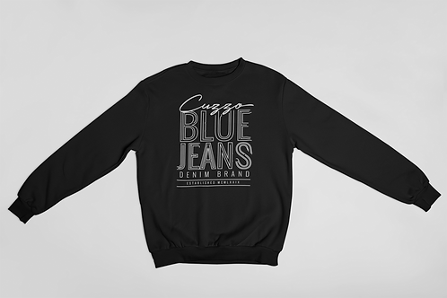 Cuzzo® Blue Jean Sweatshirt (Black-White)