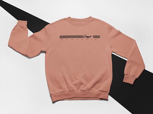 Cuzzo® EXCLUSIVE Lux Quad sweatshirt (Mauve-Blk)