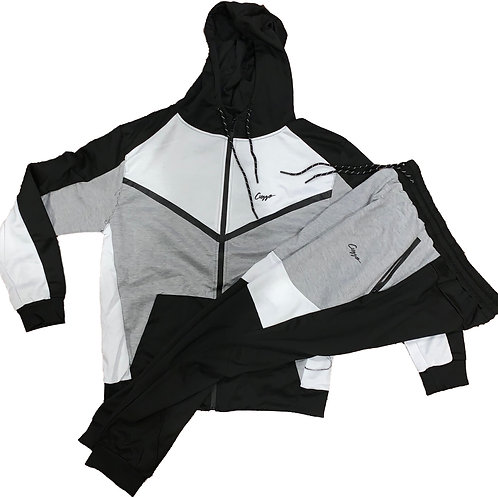 Cuzzo® Tracker Jogger Set (Blk-Wht-Gry) **Exclusive**