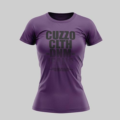 Cuzzo® Unisex Women's Faded Tee (Purple-Black)