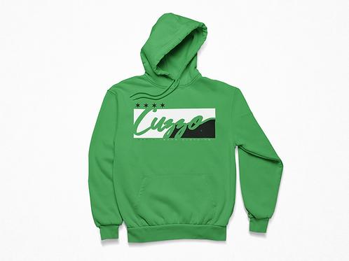 Cuzzo® Signature Block Hoodie  (Green/Black)