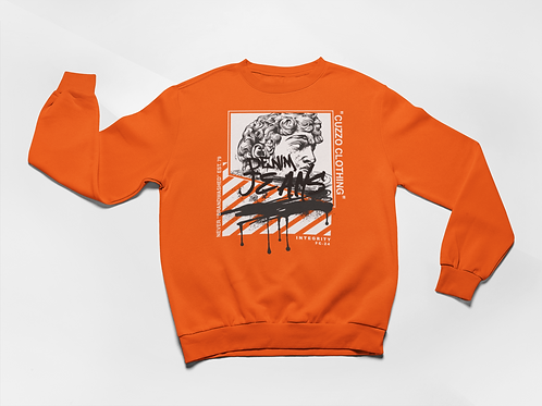 Cuzzo® Brandwashed Sweatshirt (Orange)