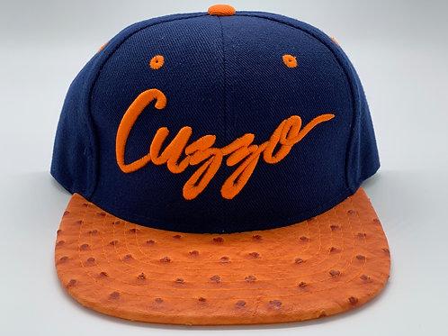 EXCLUSIVE Cuzzo Signature Color-block Snapback (Navy-Orange)