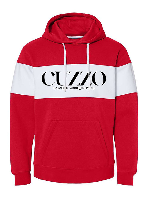 Cuzzo® Lux Color-Block Hoodie (Red)