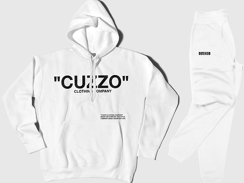Cuzzo® Quote ME Jogger Set (White-Black)