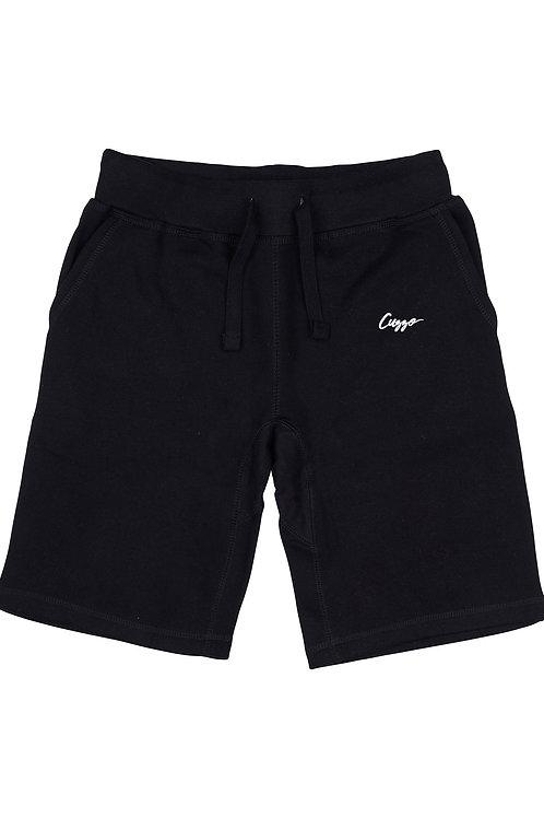 Cuzzo® Small Signature Fleece Shorts (Black-White)