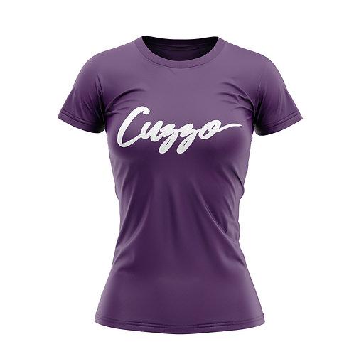 Cuzzo® Unisex Women's Signature Tee (Purple-Wht)