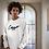 Thumbnail: Cuzzo® Black Signature Sweatshirt (white)