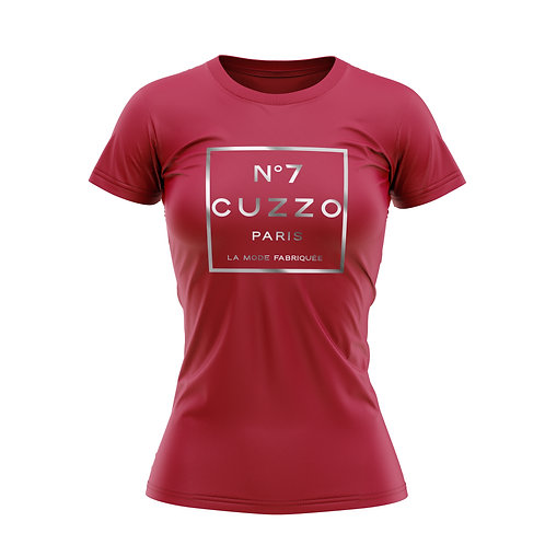 Cuzzo® Unisex Women's International Tee (Red-Silver Foil)