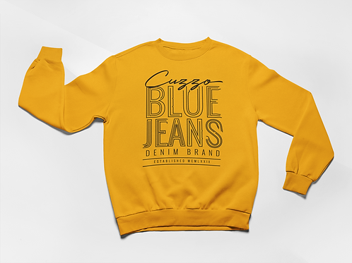 Cuzzo® Blue Jean Sweatshirt (Gold-Black)