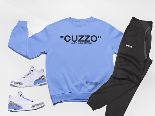 "Cuzzo® ""Quote ME"" Jogger Set (University Blue-Black)"