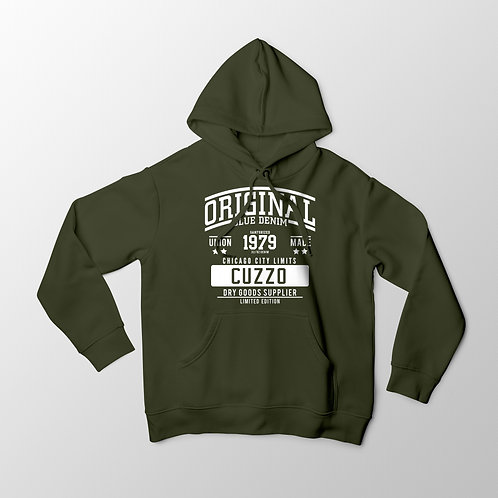 Cuzzo City-Limits Hoodie (Military Green-White)