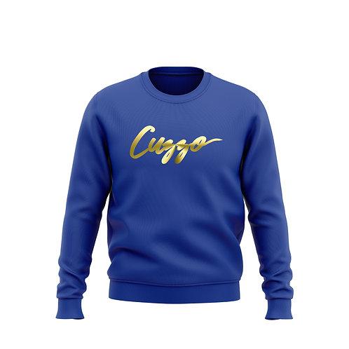 Cuzzo® Foil Signature Sweatshirt (Royal)