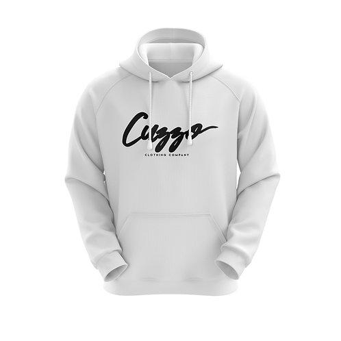 Cuzzo® Black Signature Hoodie (white)