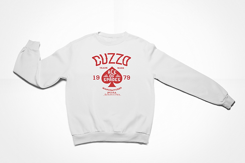 Cuzzo® Ace of Spades Sweatshirt (White-Red)
