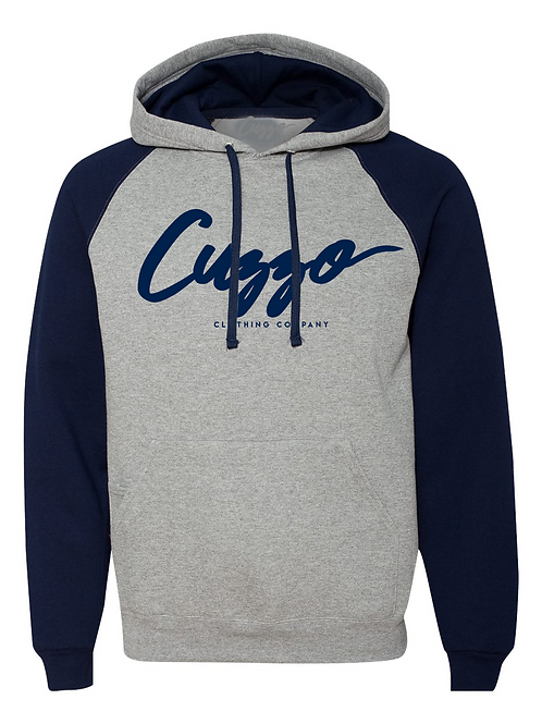 Cuzzo® EXCLUSIVE Signature Hoodie (Grey-Navy)