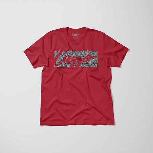 Cuzzo® Elephant Signature Block Tee (Red)