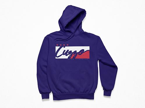 Cuzzo® Signature Block Hoodie  (Purple/White-Red)