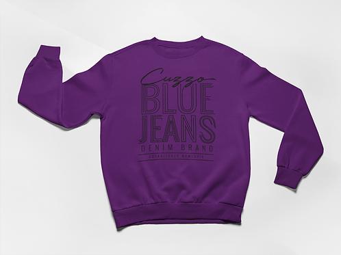 Cuzzo® Blue Jean Sweatshirt (Purple-Black)