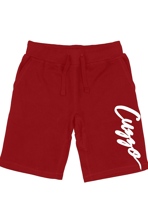 Cuzzo® Large Signature Fleece Shorts (Cardinal Red)
