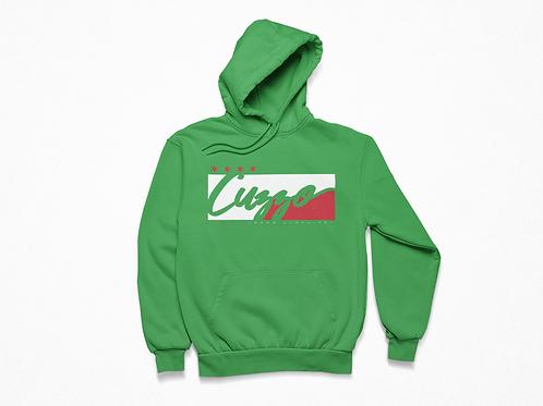 Cuzzo® Signature Block Hoodie  (Green/White-Red)