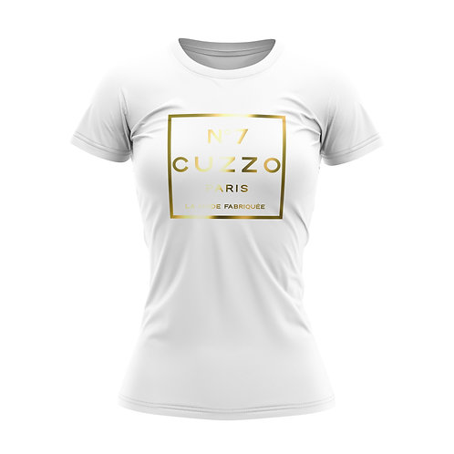 Cuzzo® Women's International Tee (White-Gold Foil)