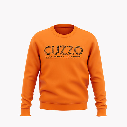 Cuzzo® I Am Black History Sweatshirt (Orange-Black)